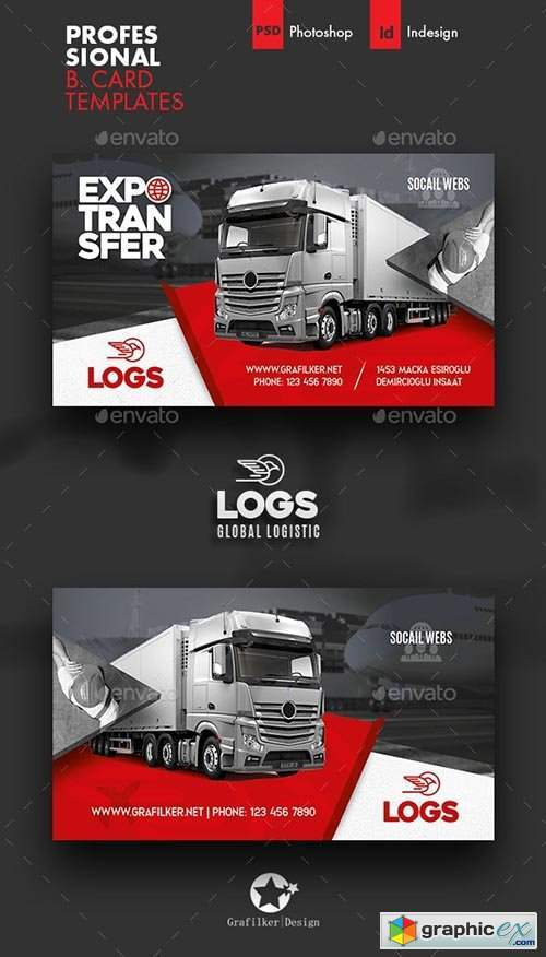 Logistics Business Card Templates