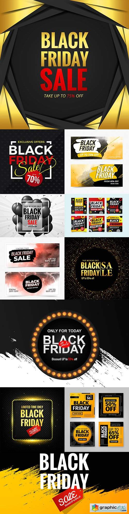 Black Friday and sale special design illustration 33