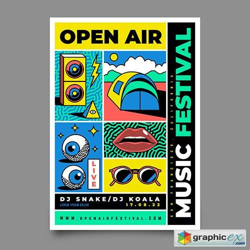 Outdoors Music Festival Poster