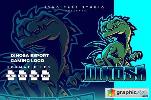 Dinosa E-sport Gaming Logo