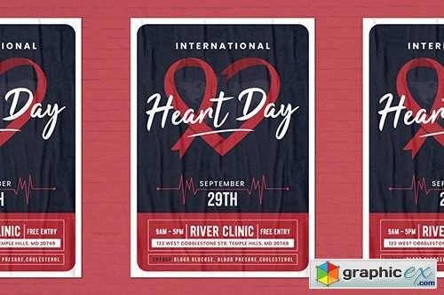 World Heart Day Flyer Template