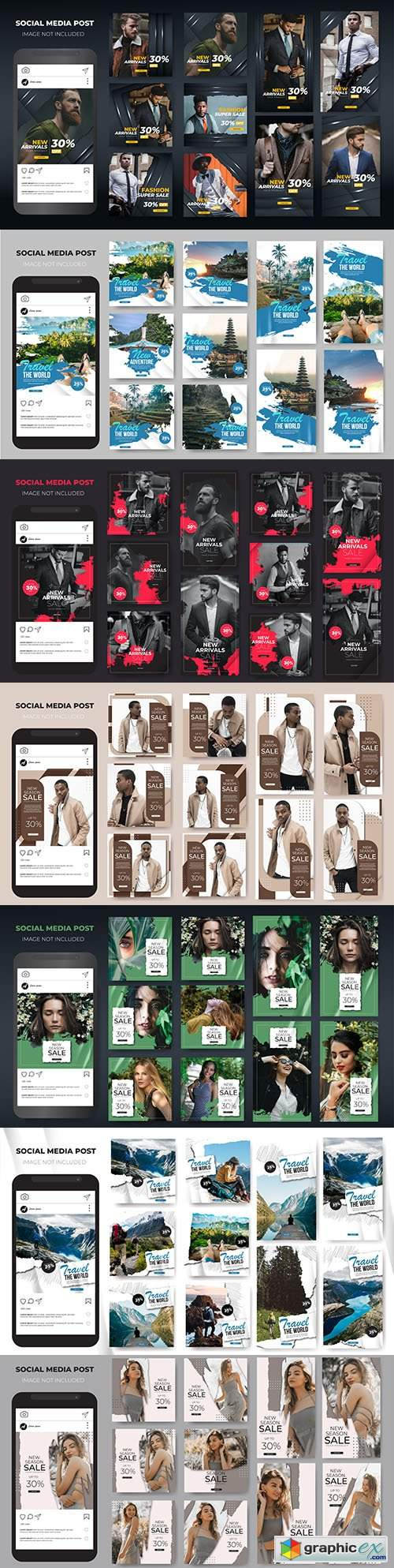 Social media stories Instagram template sale fashion