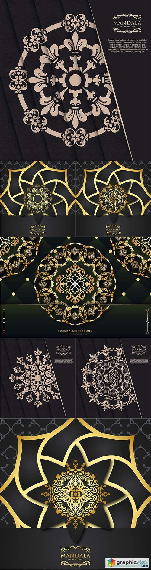 Luxury mandala decorative ornament design gold