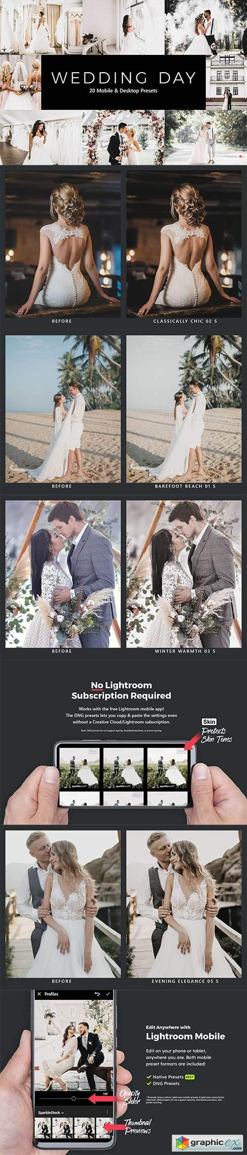 20 Wedding Day Lightroom Presets & LUTs