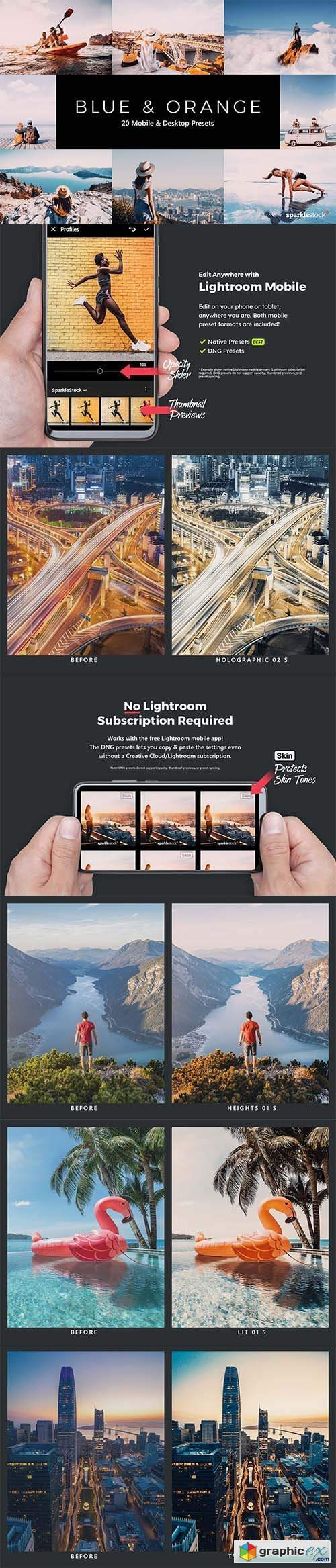 20 Blue and Orange Lightroom Presets & LUTs