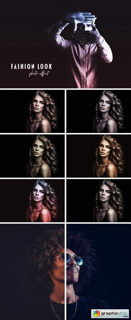 Fashion Look Duotone Photo Effect Mockup