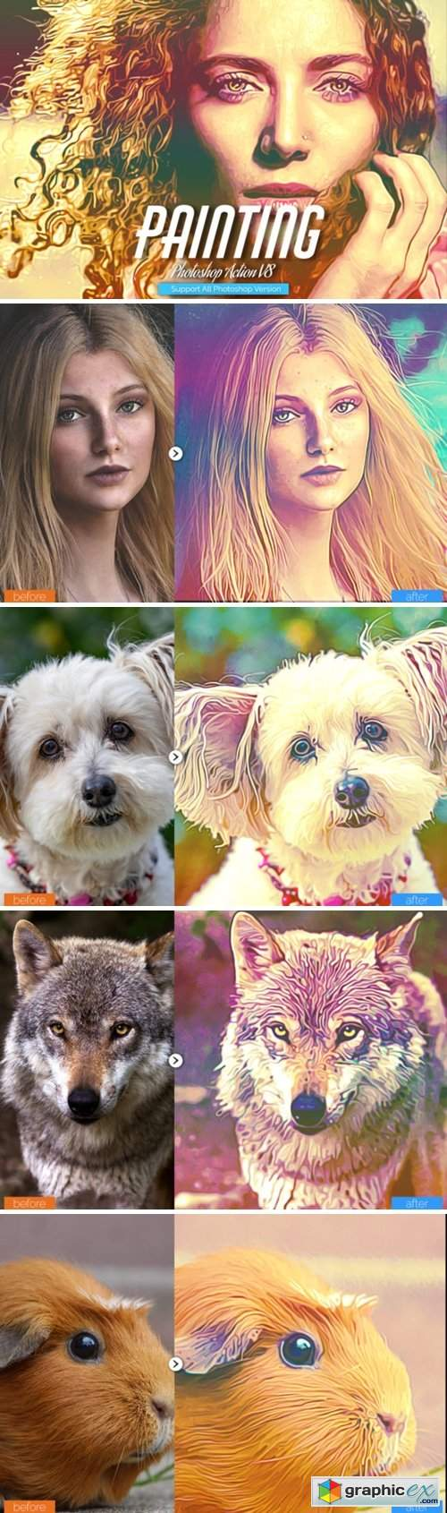 Painting Photoshop Action V8