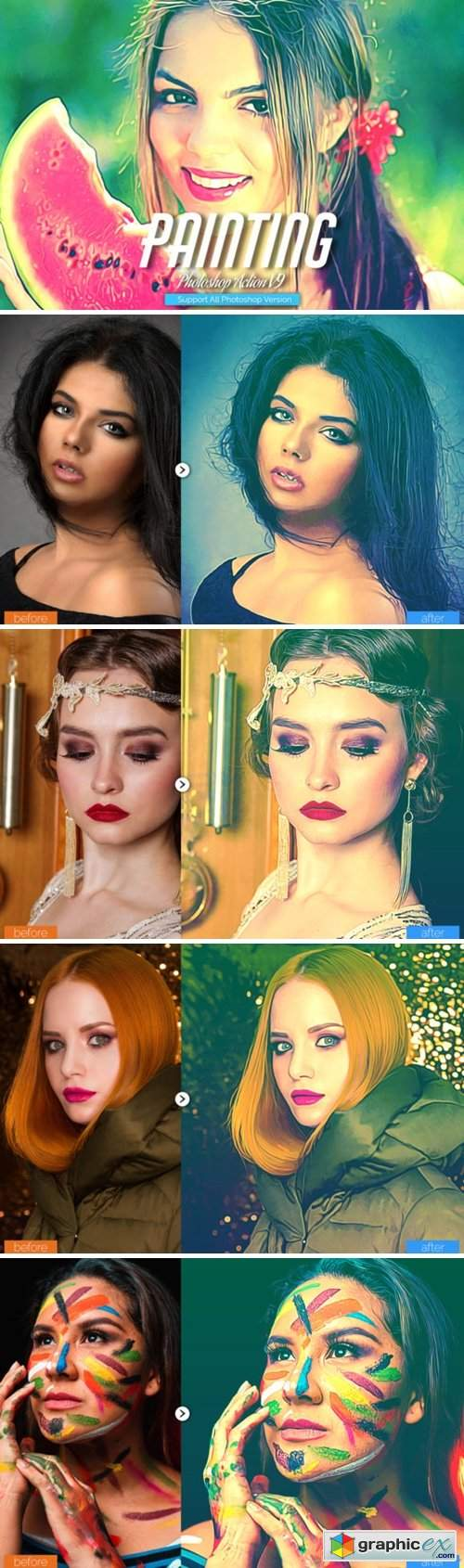 Painting Photoshop Action V9
