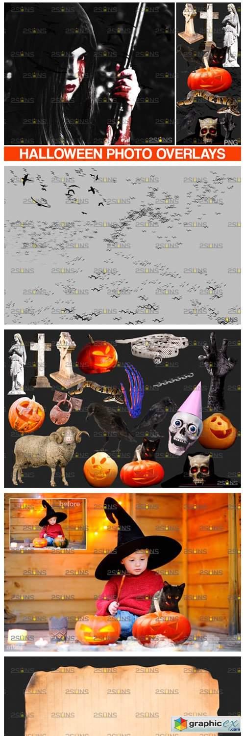 Halloween Clipart & Halloween Overlays 5542443