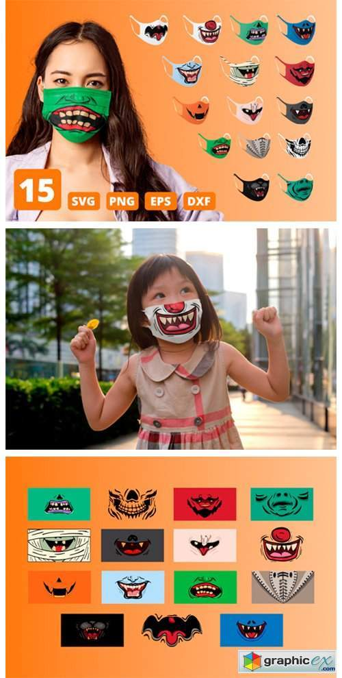 Halloween Funny Face Mask Patterns
