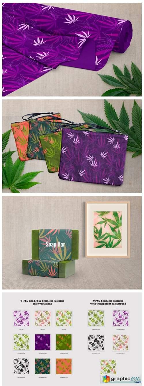 Hemp - Botanical Seamless Pattern