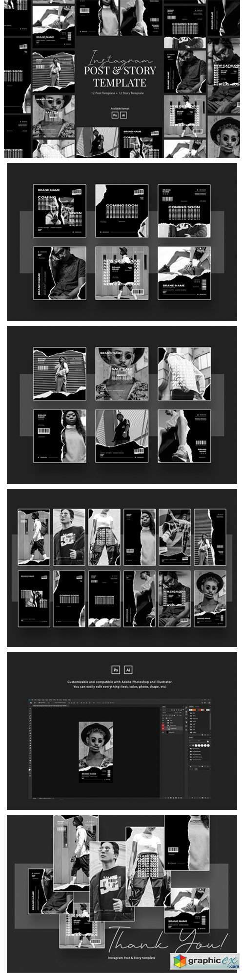 Urban Monochrome Instagram Template