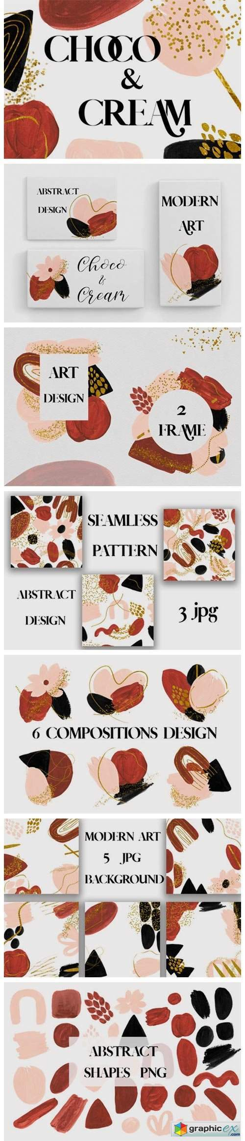 Abstract Modern Shapes Design