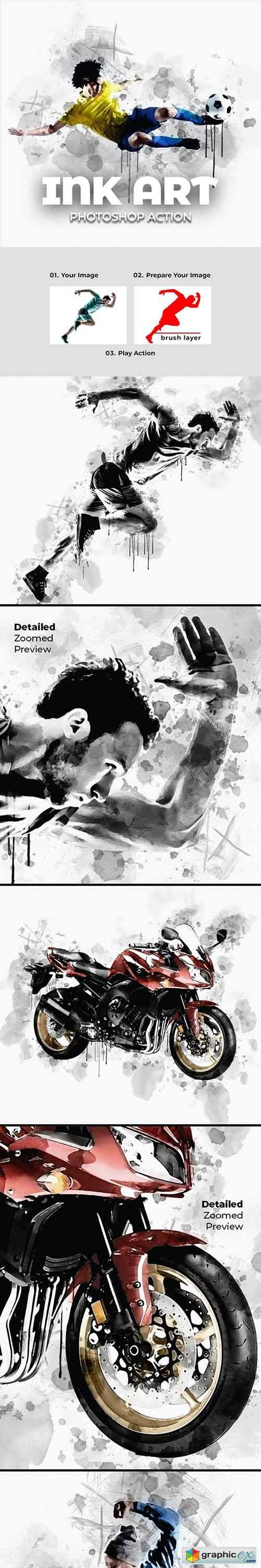 Ink Art Photoshop Action 28285461