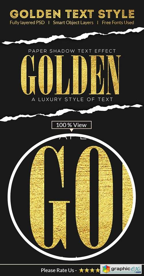 Golden Text Effect 28675080