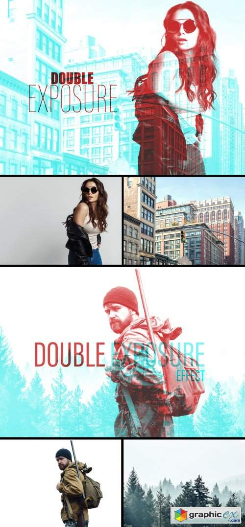 Double Exposure Effect Mockup 383348933