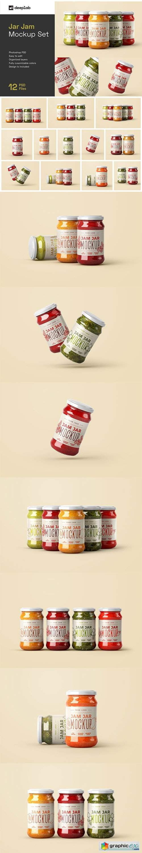 Jam Jar Mockup Set | Label Design