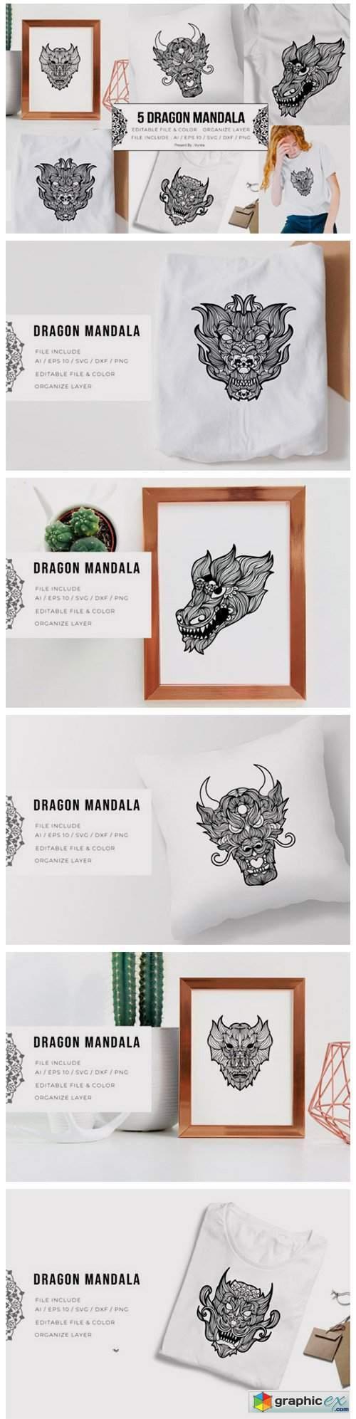 5 Dragon Bundle | Mandala