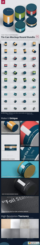 Tin Can Mockup Round Bundle