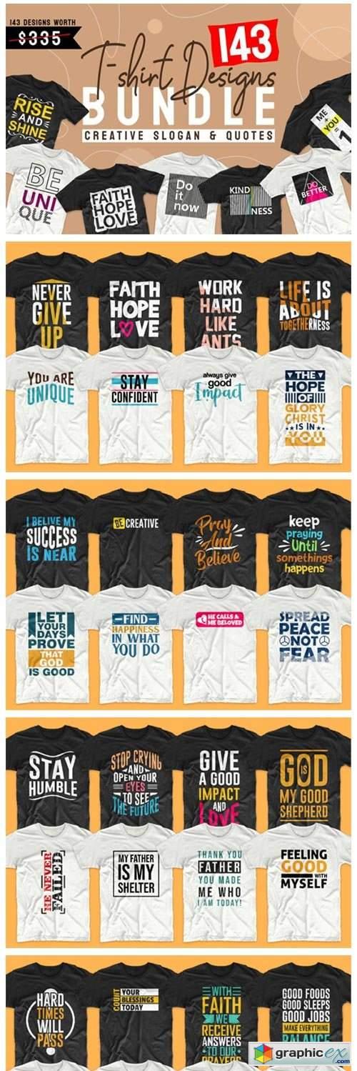 T-shirt Designs Bundle Slogan Quotes