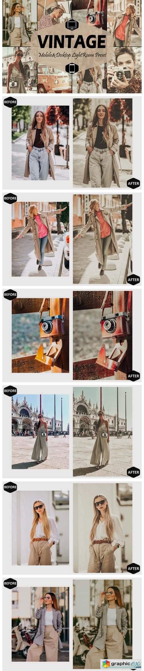 18 Vintage Mobile Lightroom Presets