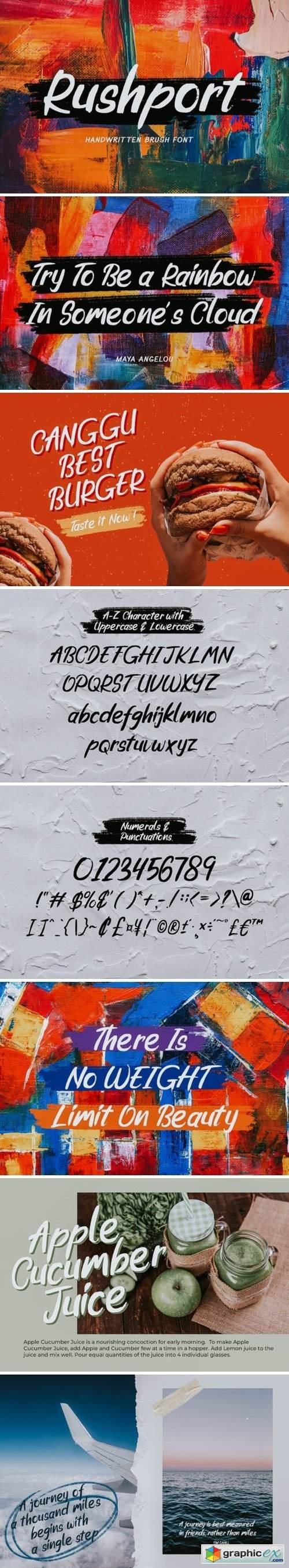Rushport Font