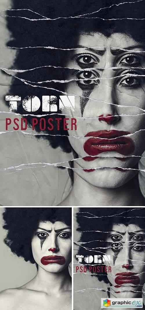 Torn Poster Design Mockup