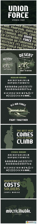 Union Force Font