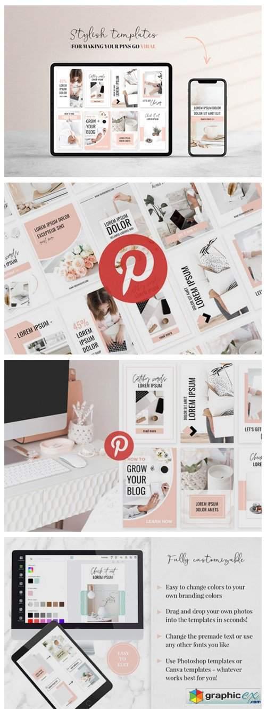 Ladyboss Pinterest Templates Canva