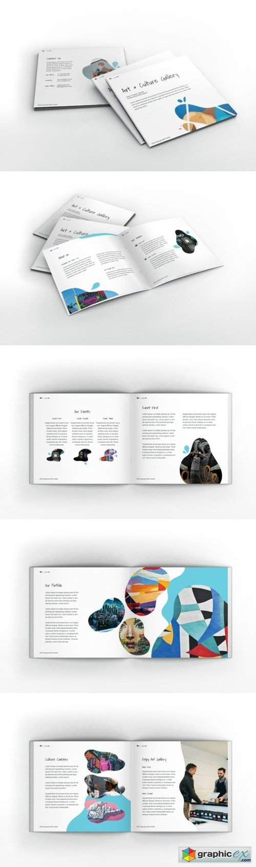 Art Gallery Square Brochure Template