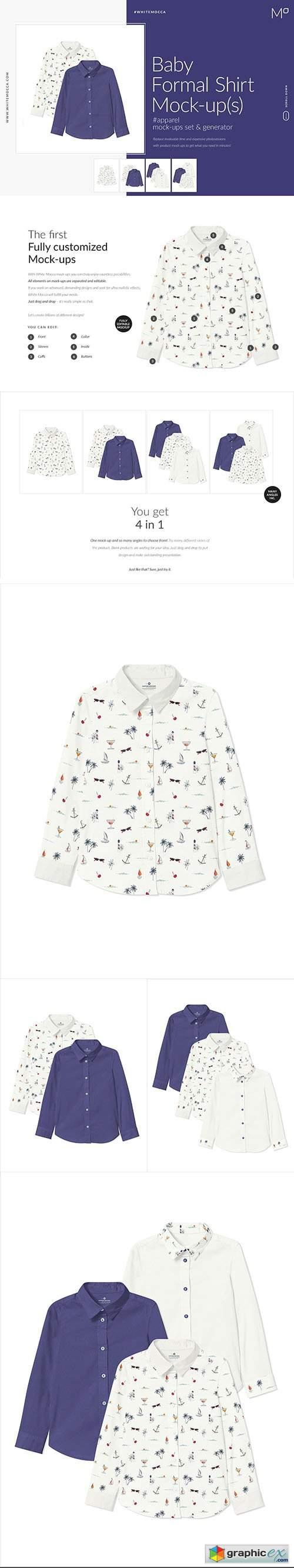 Baby Formal Shirt Mock-ups Set