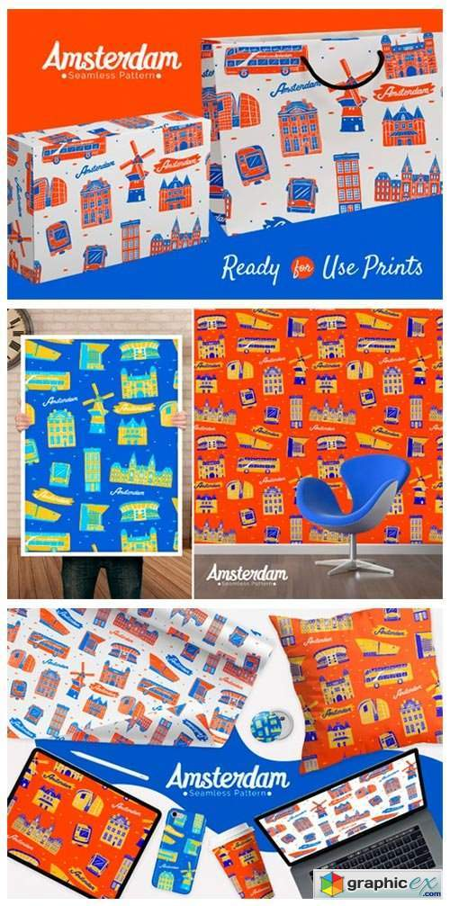 Amsterdam Seamless Pattern