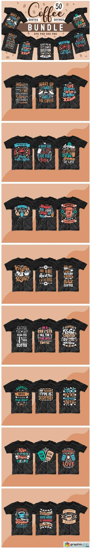 Coffee SVG Bundle Quotes T-shirt Design