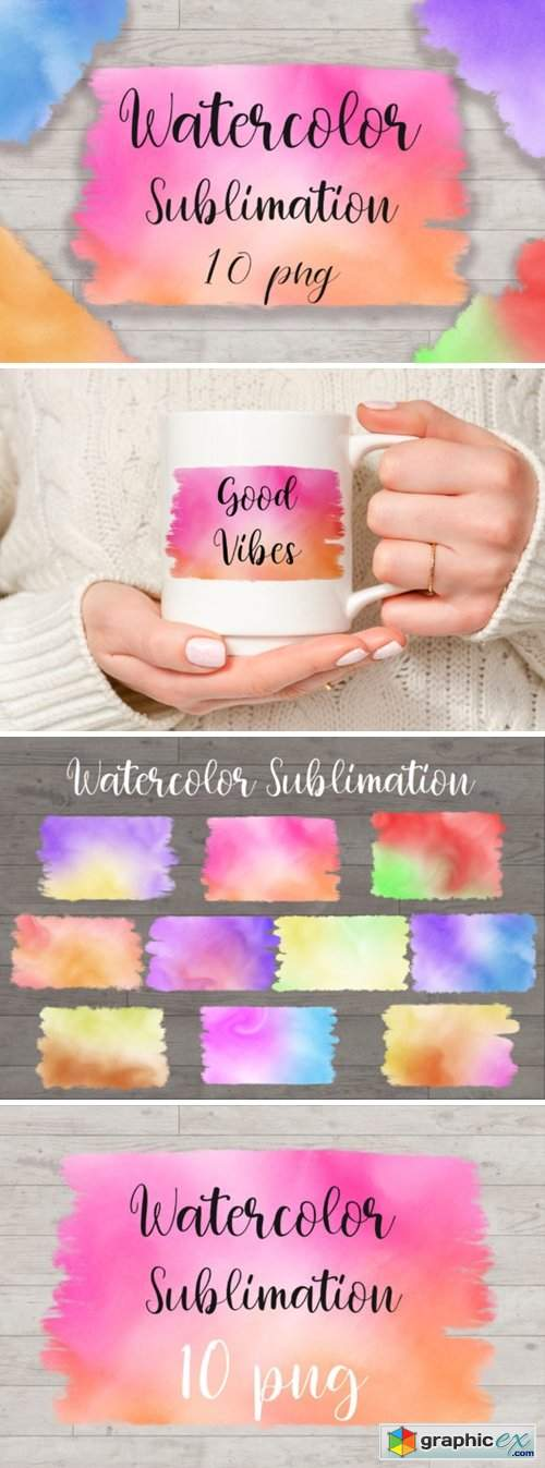 Sublimation Watercolor Background