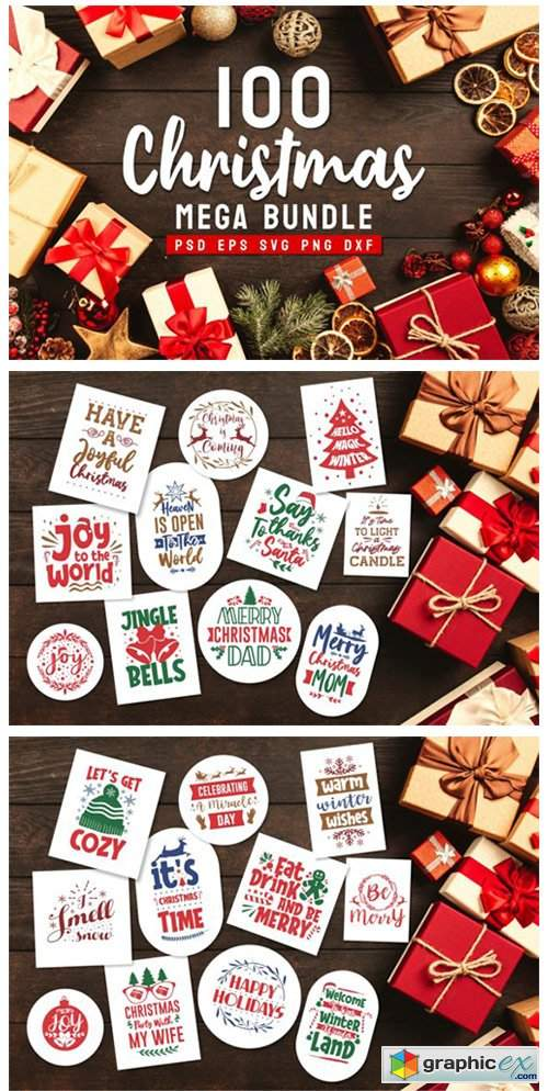 Christmas Bundle SVG Typography