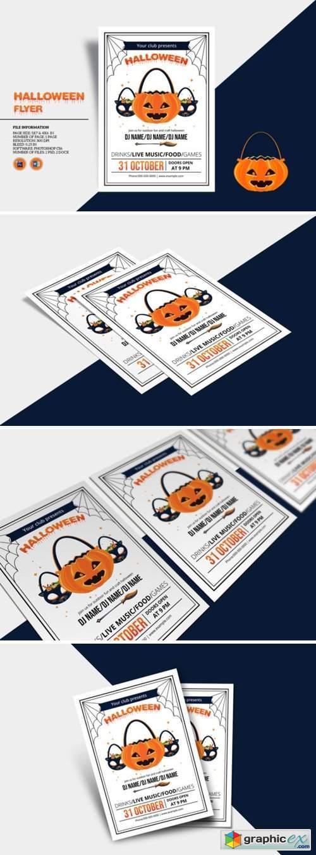 Halloween Invitation Flyer Template