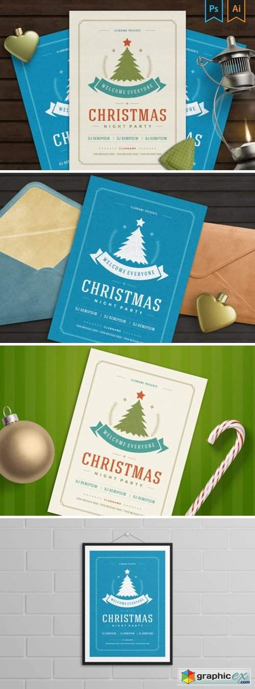 Christmas Party Invitation Flyer 6047591