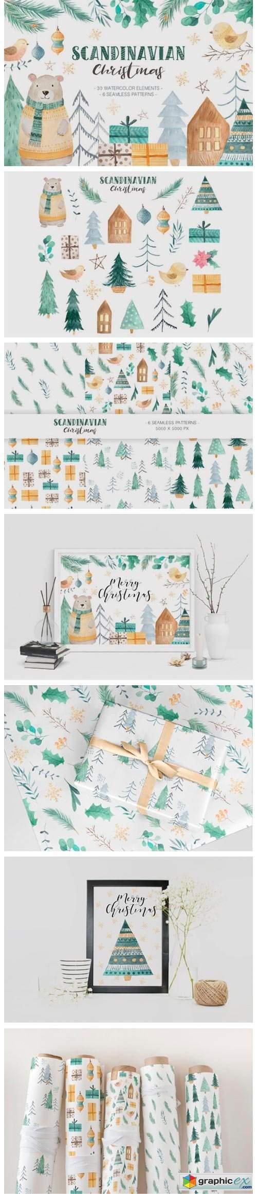Scandinavian Watercolor Christmas 6011128