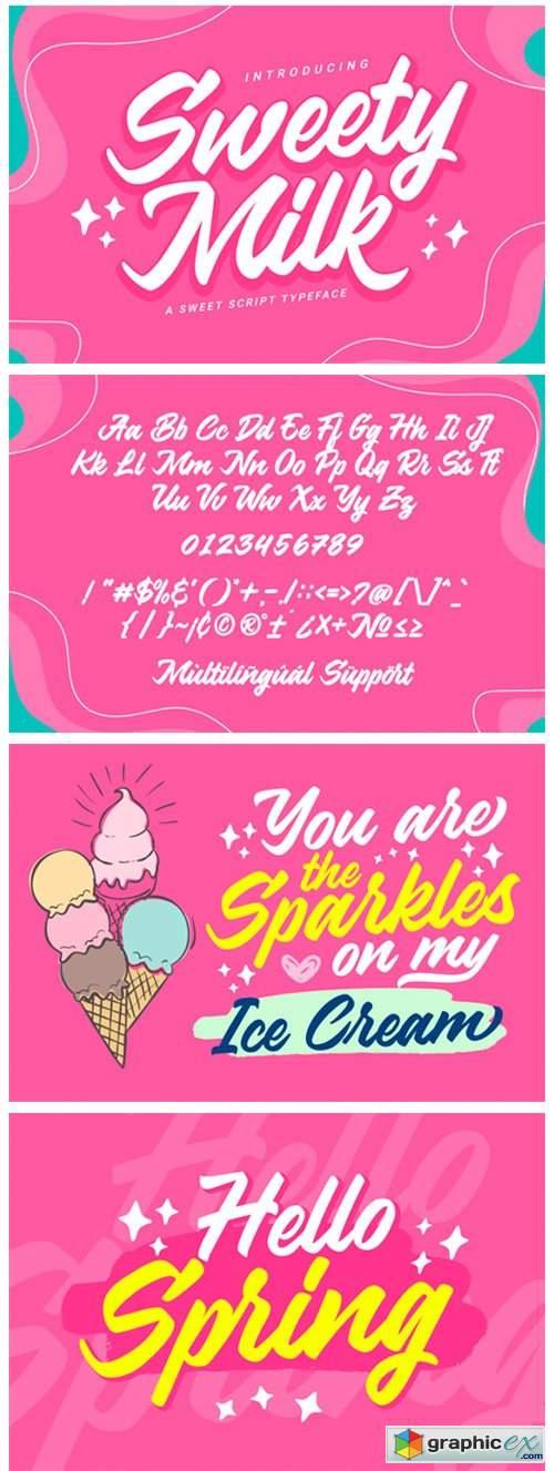 Sweety Milk Font