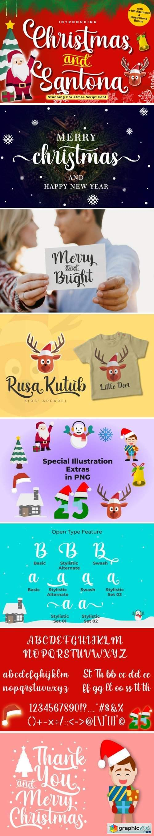 Christmas and Santona Font
