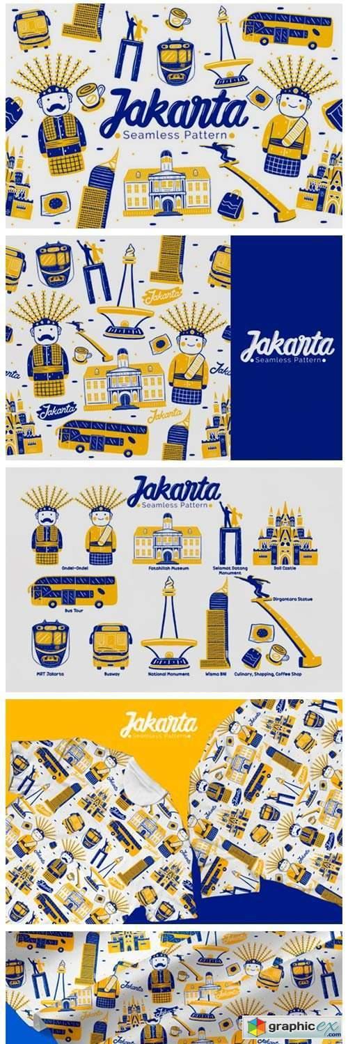 Jakarta Seamless Pattern