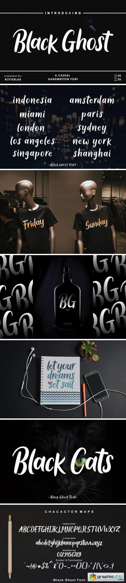 Black Ghost Font