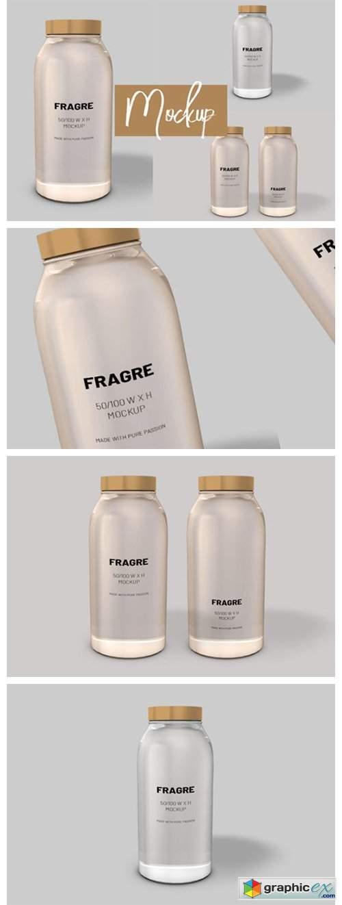 Logo and Label 3d Bottle Mockup