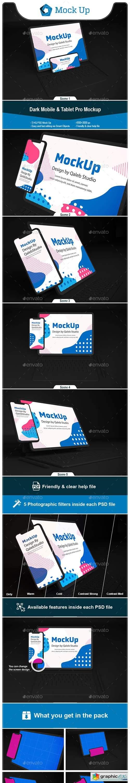Dark iPhone & iPad Pro Mockup
