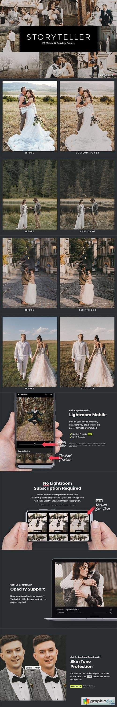 20 Storyteller Lightroom Presets & LUTs