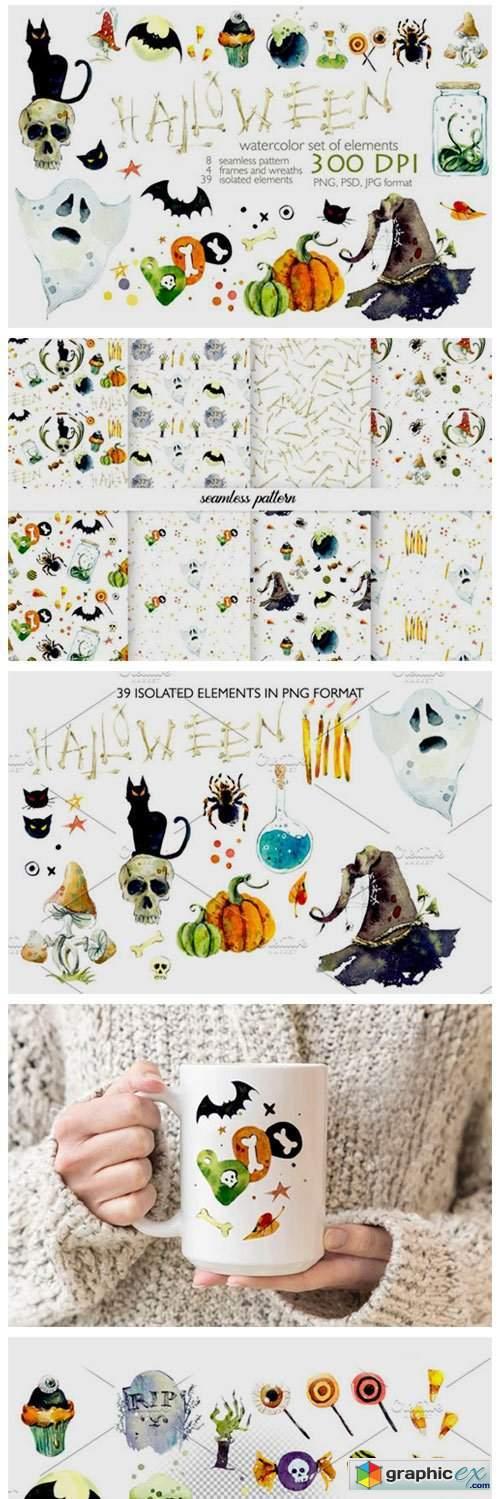 Watercolor Helloween