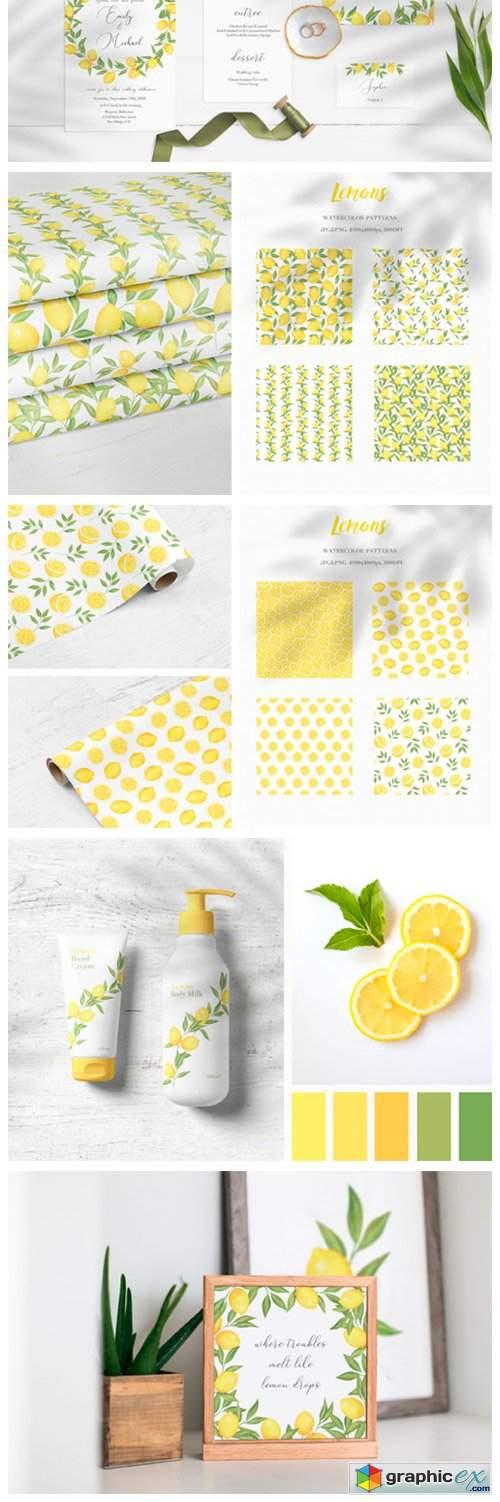 Lemon Watercolor Collection