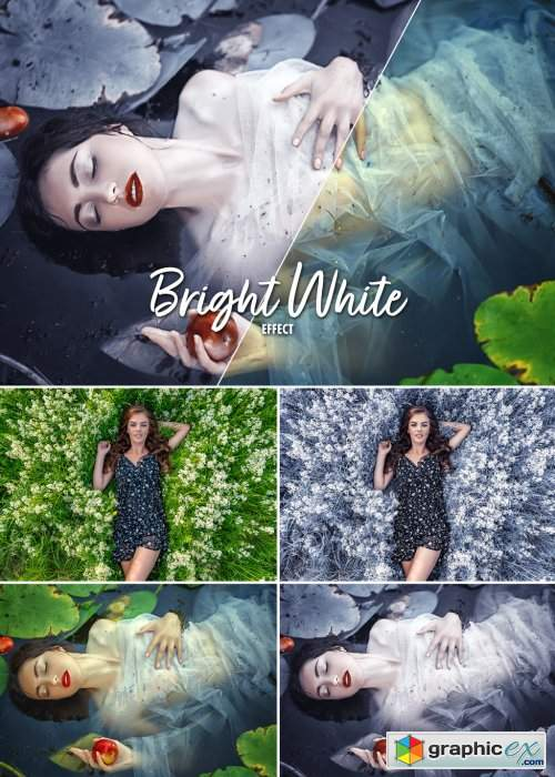 Green to White Filter Effect Mockup