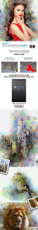 Water ColoreeXign Art Photoshop Action