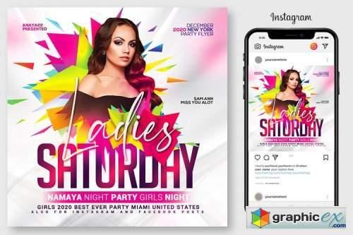 Ladies Night Club Flyer Template 4967105
